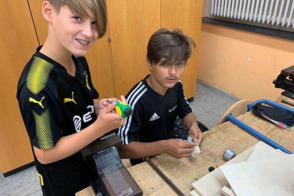 Neues Musikprojekt am Standort Wadgassen: Percussion-Projekt der Klasse 7a